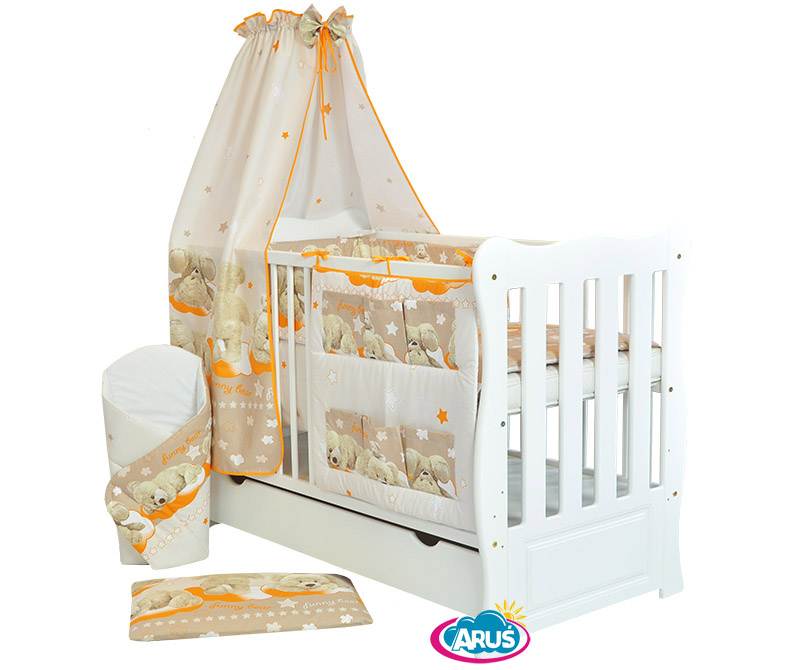 baby cot with drawer 3 models MM 9 pcs bedding set 11-part set Mattress